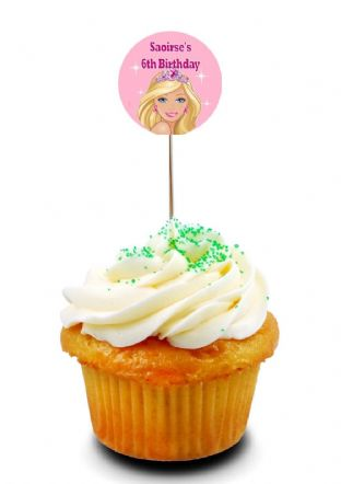 Barbie Cupcake Picks/Toppers